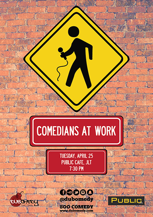 Event Flier - Comedians at work - 1st Edition