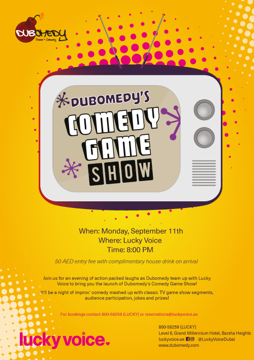 Event Flier - Dubomedy's Comedy Game Show