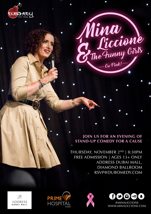 Event Flier - Event Flier - Mina Liccione and the Funny Girls